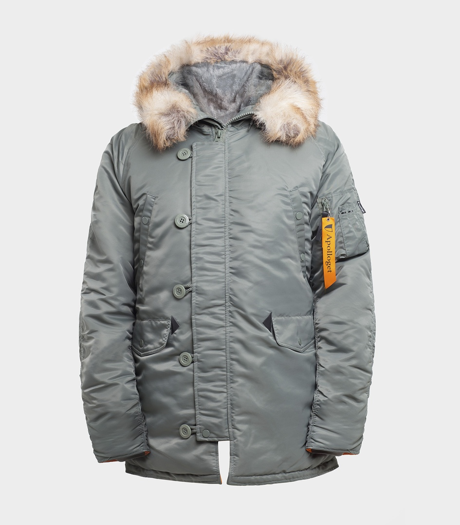 Куртка Аляска HUSKY OLIVE\ORANGE вид 1